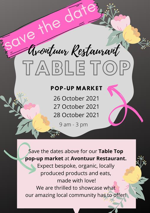 Table Top pop-up market at Avontuur Estate