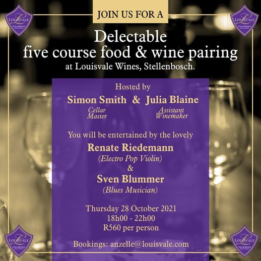 A delectable five course food & wine pairing at Louisvale Wines